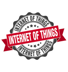 Internet of things stamp sign seal vector