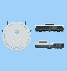 isometric robotic vacuum cleaner smart home vector image