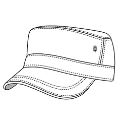 Jeep cap band outlined template vector