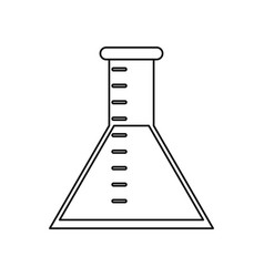 laboratory test tube chemistry thin line vector image