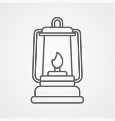 lantern icon sign symbol vector image