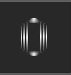 letter o logo monogram initial or 0 zero logotype vector image