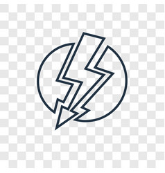 Lightning concept linear icon isolated on vector