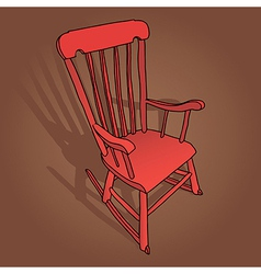 Little Red Rocking Chair vector image