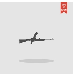 Machine gun icon concept for vector
