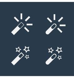 Magic wand flat icons vector image