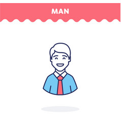male profile icon vector image