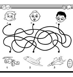Maze activity for coloring vector