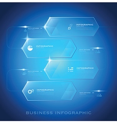 Modern Hexagon Business Infographic Background vector image