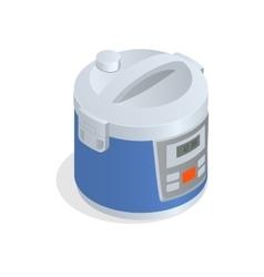 Multi cooker crock-pot multivarka isolated vector