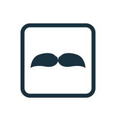 Mustache icon Rounded squares button vector
