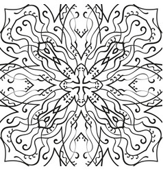 ornamental background for coloring book in black vector image