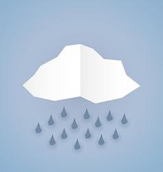 Paper rain vector