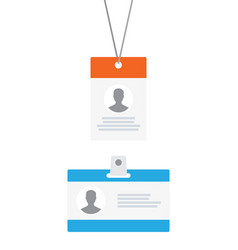 personal id cards icon vector image