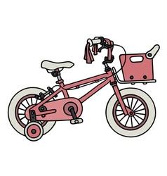 Pink child bike vector image