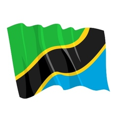 Political waving flag of tanzania vector