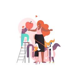 pregnancy concept for web banner website vector image