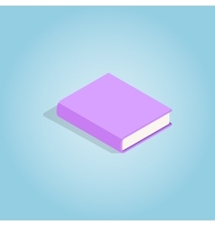 Purple book icon isometric 3d style vector