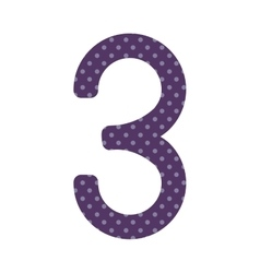 Purple number three design over lilac dotted vector