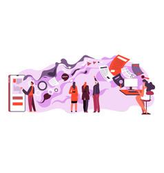 receiving and sending data online info in web vector image