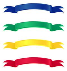 Ribbon callouts vector