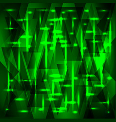 Rich green pattern of shards and triangles with vector