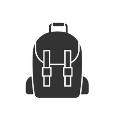school bag icon design template isolated vector image