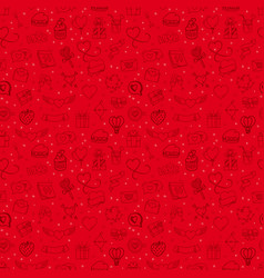 seamless background with valentines elements vector image