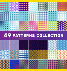 Set 49 geometric abstract patterns decorative vector