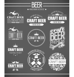 set beer labels vector image