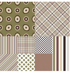 set seamless geometric patterns i vector image