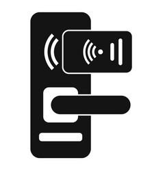 Smart door lock icon simple style vector