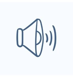 Speaker volume sketch icon vector image