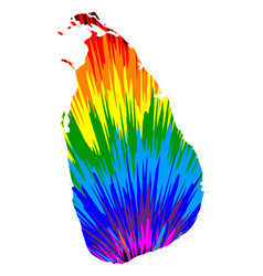 Sri lanka - map is designed rainbow abstract vector