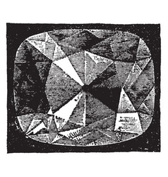 Star of the south diamond vintage engraving vector