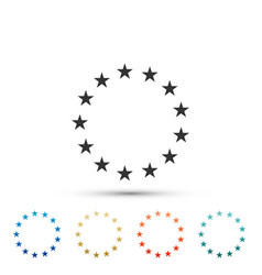stars in circle icon isolated on white background vector image