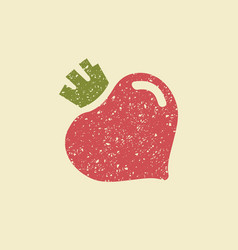 stylized flat icon of a beetroot vector image