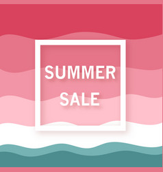 summer sale banner minimalist summer watermelon vector image