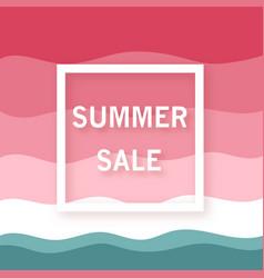 Summer sale banner minimalist watermelon vector