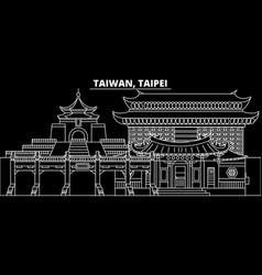 Taipei silhouette skyline taiwan - taipei vector