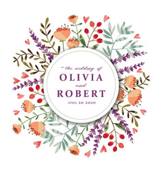 tex flowers invitation vector image