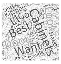 The best cabinets for your kitchen word cloud vector