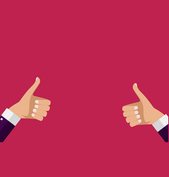 thumbs up sign can be used for social network vector image