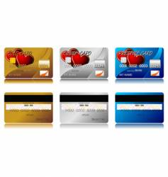 valentines credit cards vector image vector image