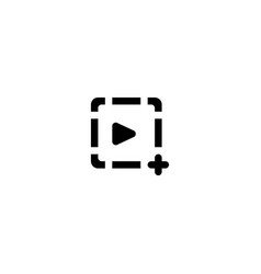 video play icon symbol sign vector image