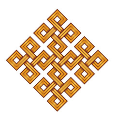 Viking decorative knot - engraved gold vector