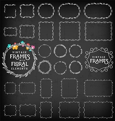 Vintage Frame and Label Collection on Chalkboard vector