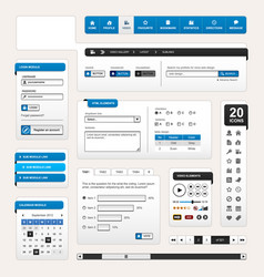 web design element template a set of web design vector image