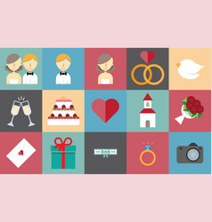 Wedding graphics vector
