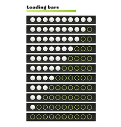 white loading bars vector image
